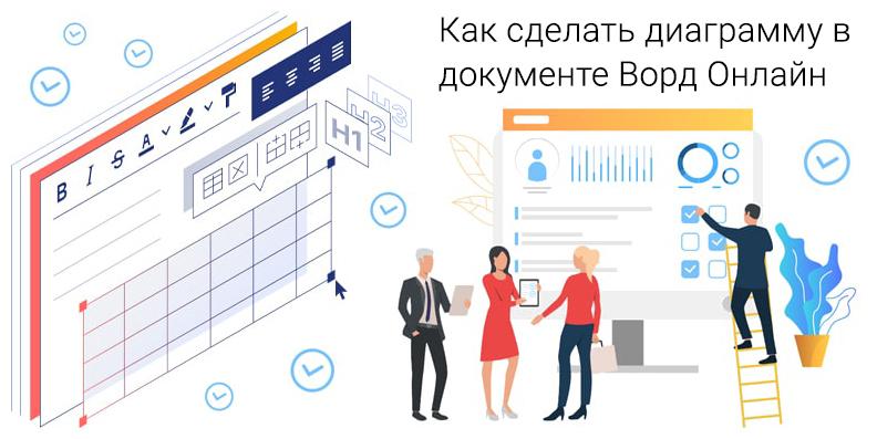 Как сделать диаграмму в документе Ворд Онлайн